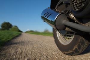 Auspuff eines Motorrollers